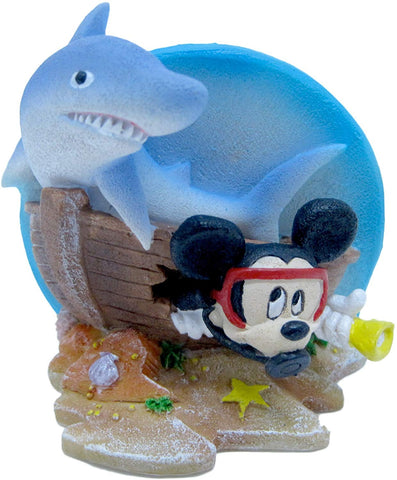 Penn Plax Mini Mickey with Shark, mini, Multi-Color