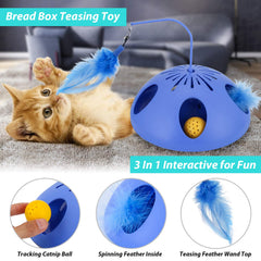 WINGPET Interactive Cat Toys - Automatic Cat Teaser & Exerciser