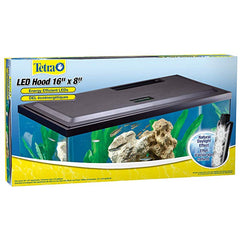 "Tetra Low Profile LED Aquarium Hood 16"" x 8"""