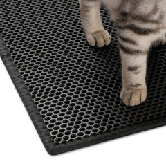 "Pieviev Cat Litter Mat Litter Trapping Mat, 30"" X 24"" Inch Honeycomb Double Layer Design Waterproof Urine Proof"