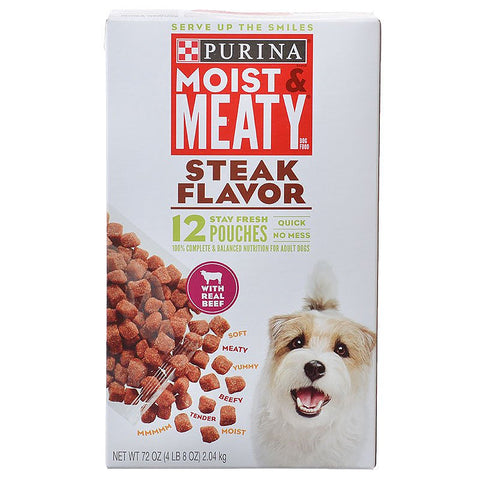 Purina Moist & Meaty Dog Food - Steak Flavor