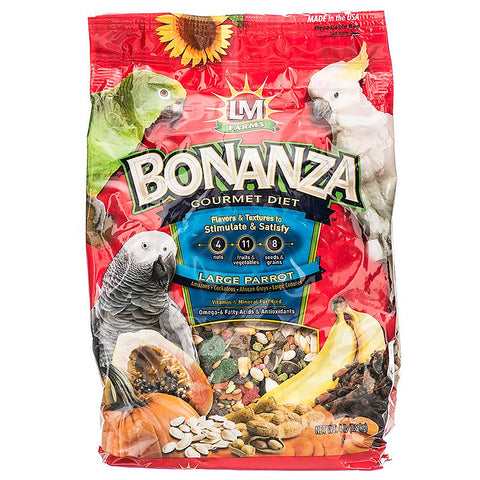 LM Animal Farms Bonanza Gourmet Diet - Large Parrot Food