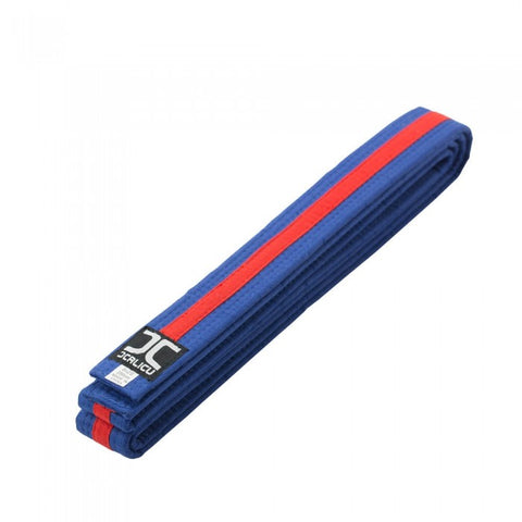 JC Blue Belt with Red Stripe