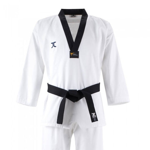 JC Club Black V Neck Taekwondo Uniform - WT Approved