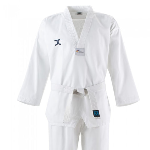 JC Club White V Neck Taekwondo Uniform - WT Approved