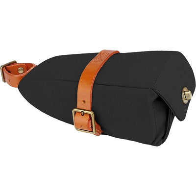 Black Water Repellent Canvas Saddle Bag - Pedal the Metal