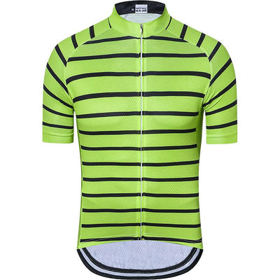 Men's Green Stripe Cycling Jersey - Pedal the Metal