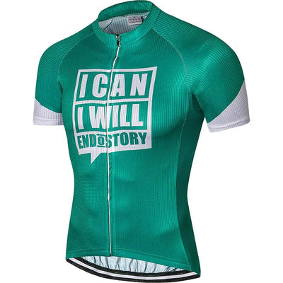 Men's 'I Can I Will' Cycling Jersey - Pedal the Metal