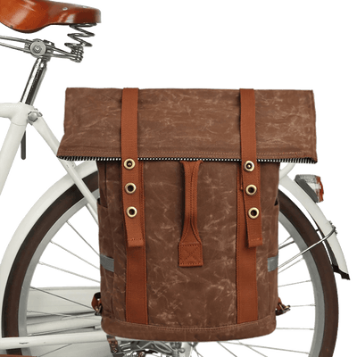 Retro Water Repellent Pannier Laptop Bag - Pedal the Metal