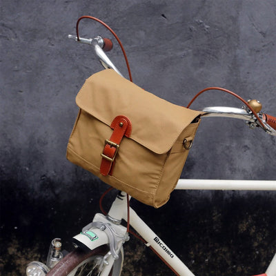 Retro Waterproof Canvas Handlebar Bag - Pedal the Metal