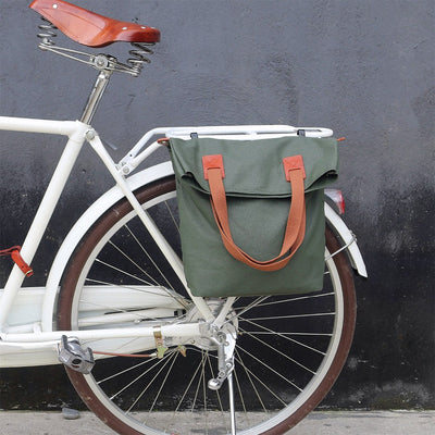Retro Waterproof Canvas Pannier Bag - Pedal the Metal