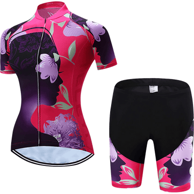 Teleyi Woman's Flower Cycling Kit - Pedal the Metal