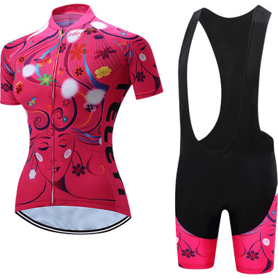 Teleyi Woman's Life Cycling Bib Kit - Pedal the Metal