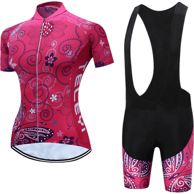 Teleyi Woman's Swirl Cycling Bib Kit - Pedal the Metal