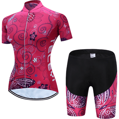Teleyi Woman's Swirl Cycling Kit - Pedal the Metal