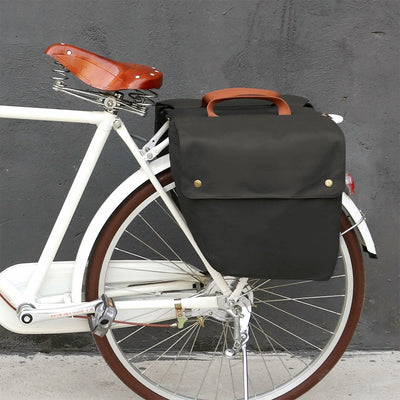 Vintage 23L Waterproof Canvas Pannier Bag - Pedal the Metal