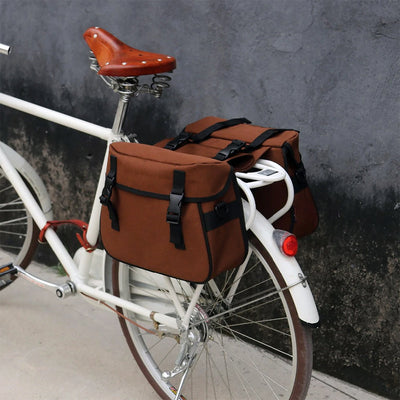 Vintage Dual Waterproof Nylon Pannier Bag - Pedal the Metal