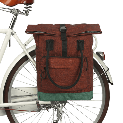 Vintage Pannier/Backpack Laptop Bag - Pedal the Metal