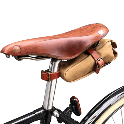Vintage Water Repellent Canvas Saddle Bag - Pedal the Metal