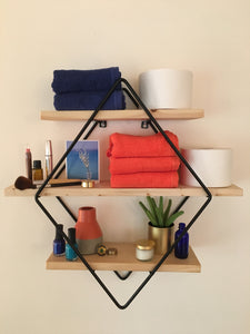 Ashby Diamond 3-Tier Floating Wall Shelf