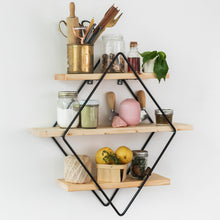 Load image into Gallery viewer, Ashby Diamond 3-Tier Floating Wall Shelf