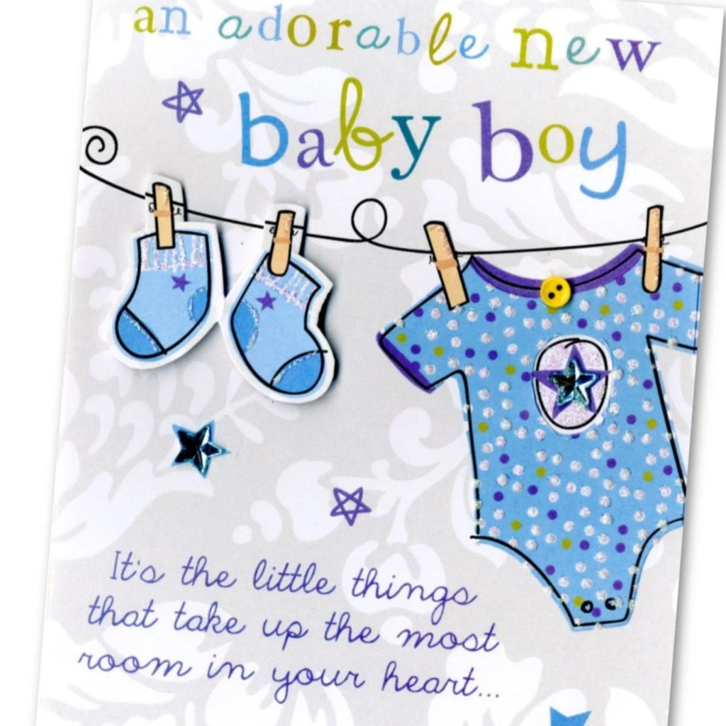 Baby Boy Greetings Card (will vary)