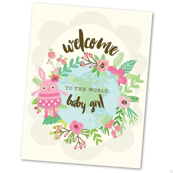 Baby Girl Greetings Card (will vary)
