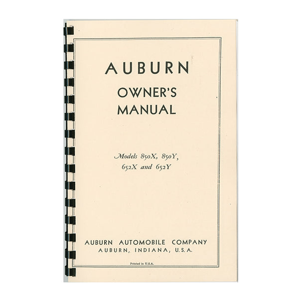 1934 Auburn Owner's Manual