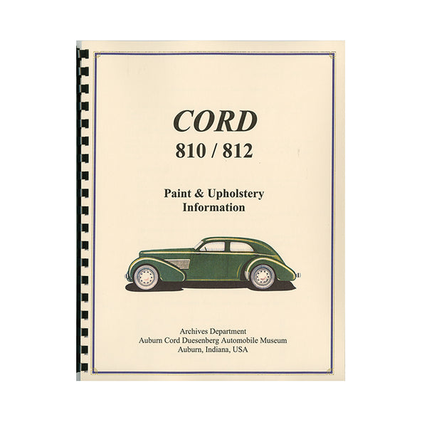 1936-1937 Cord 810/812 Paint Upholstery