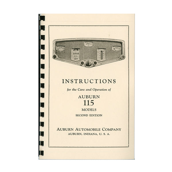 1928 Auburn 8-115 Owner's Manual