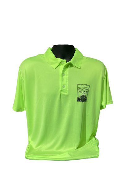 Museum Logo Lime Green Polo