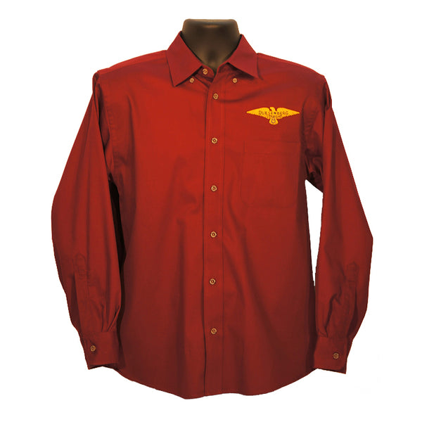 Duesenberg Logo Long Sleeve Wine shirt