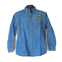 Cord Crest Logo Denim Long Sleeve Shirt