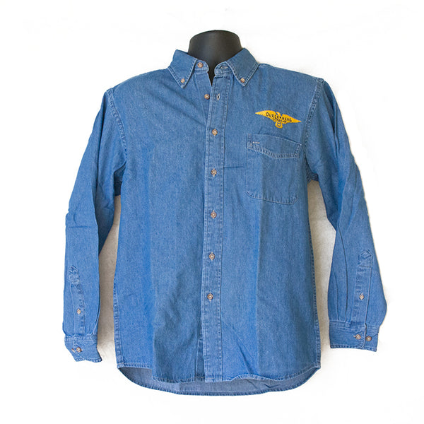Duesenberg Logo Denim Long Sleeve Shirt