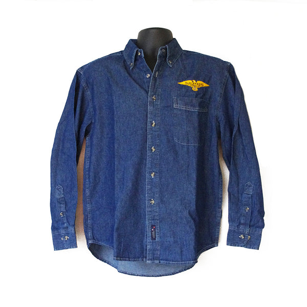 Duesenberg Logo Dark Denim Long Sleeve Shirt