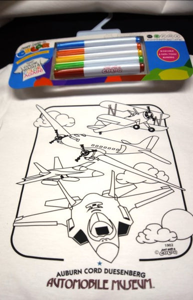 Just Add Color shirts  Airplanes