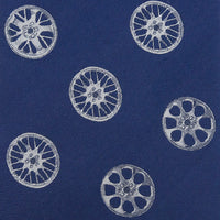 Wheels Design Silk Tie