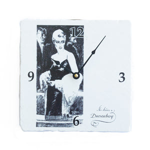 Ceramic Duesenberg Lady Clock