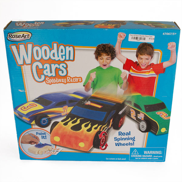 Paint N Race Wooden Race Cars