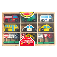 Wooden Vehicles & Traffic Signs - Melissa & Doug