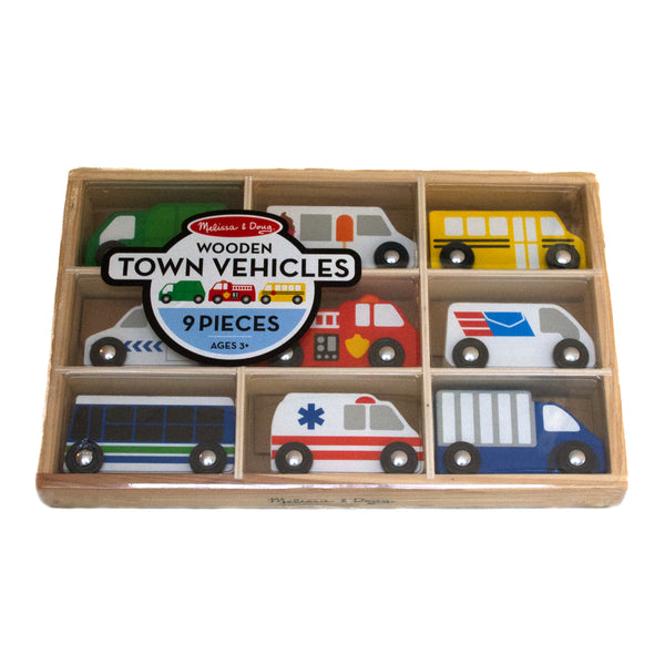 Wooden Town Vehicles - Melissa & Doug