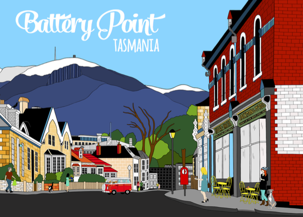 Postcard - Battery Point