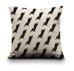 Cushion Cover - Black Cockatoo