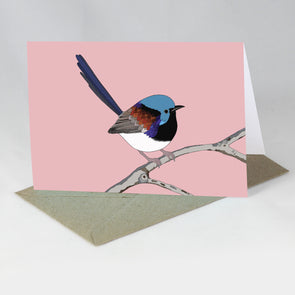 Australian Animal Card - Variegated Fairy Wren