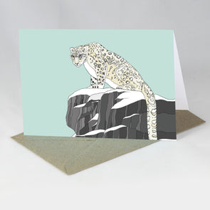 Endangered Animal Card - Snow Leopard