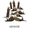 A Raft of Otters Art Print
