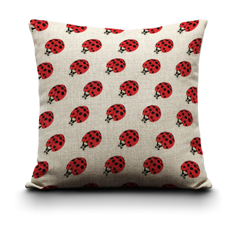 RP - Cushion Cover - Ladybirds