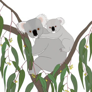 A-Z Australian Animals Koala Art Print