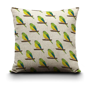Cushion Cover - Orange Bellied Parrot