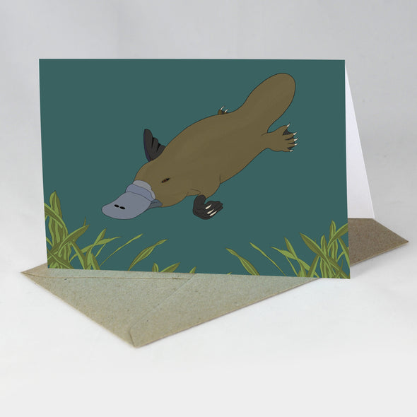 Australian Animal Card - Platypus